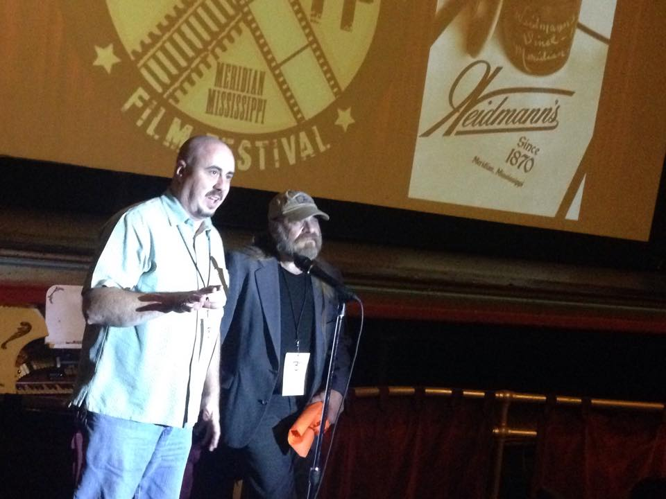 "James ""Sonny"" Howard and Mark Forte speak during the Rails to Reels Q&A"
